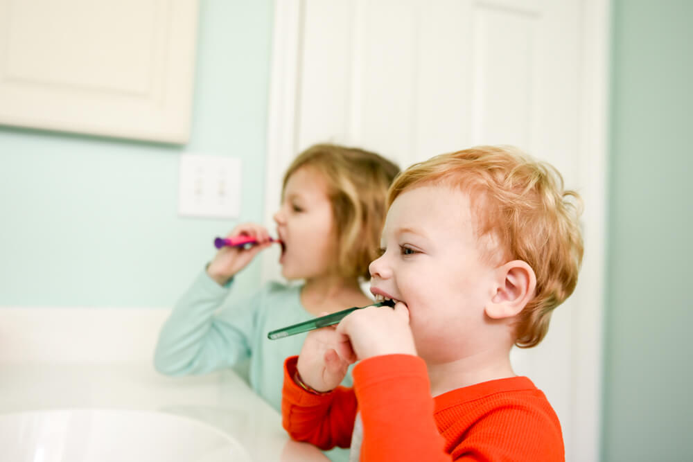 Brush your toddlers teeth