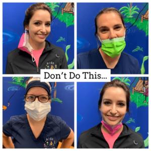Kids Teeth Wrong Way to Wear A Mask